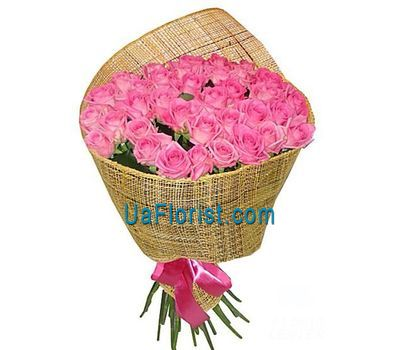 """35 pink roses"" in the online flower shop uaflorist.com"