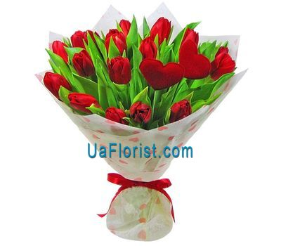 """Bouquet of 21 red tulips"" in the online flower shop uaflorist.com"