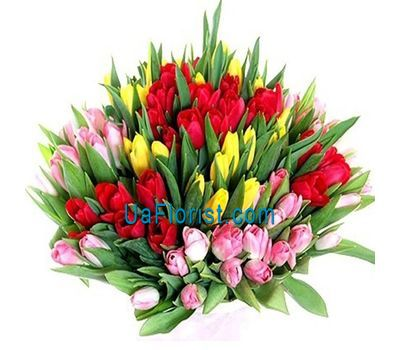 """VIP bouquet of 101 tulips"" in the online flower shop uaflorist.com"