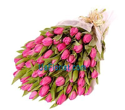 """Bouquet of 65 red tulips"" in the online flower shop uaflorist.com"