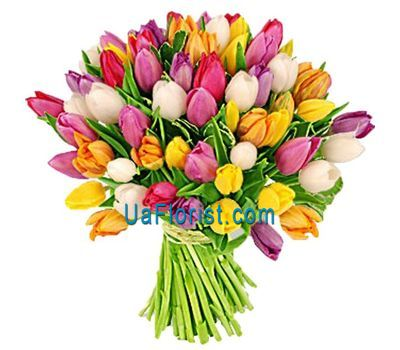 """A huge bouquet of 75 tulips"" in the online flower shop uaflorist.com"