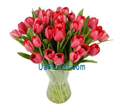 """Bouquet of 35 red tulips"" in the online flower shop uaflorist.com"