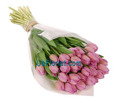 """Bouquet of 35 pink tulips"" in the online flower shop uaflorist.com"