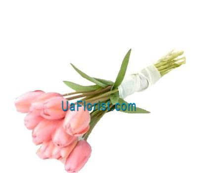 """Bouquet of 9 tulips"" in the online flower shop uaflorist.com"