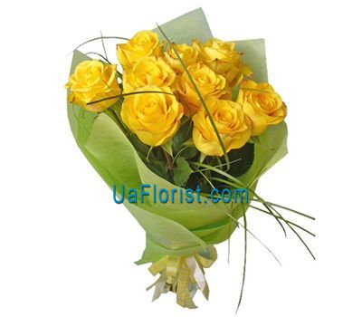 """9 yellow roses"" in the online flower shop uaflorist.com"