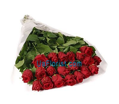 """21 red imported roses"" in the online flower shop uaflorist.com"