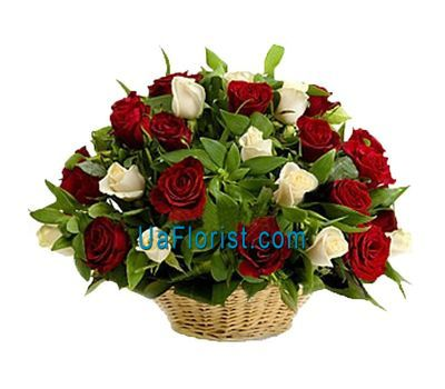 """Basket of 31 rose flowers"" in the online flower shop uaflorist.com"