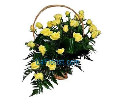 """""""Корзина цветов из 25 роз"""" в интернет-магазине цветов uaflorist.com"""