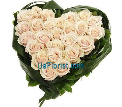 """A composition of 27 white roses"" in the online flower shop uaflorist.com"