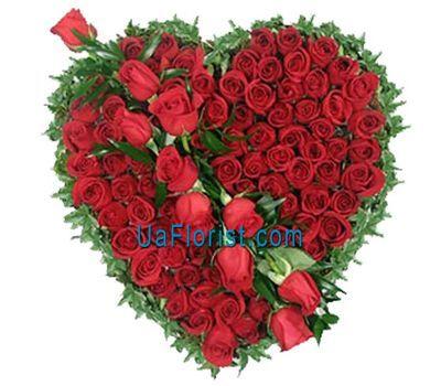 """""""Сердце из 75 роз"""" в интернет-магазине цветов uaflorist.com"""