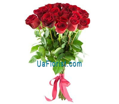 """A bunch of 19 red roses"" in the online flower shop uaflorist.com"