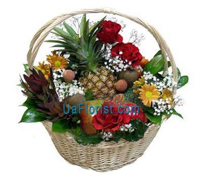 """""""Корзина с фруктами и цветами"""" в интернет-магазине цветов uaflorist.com"""