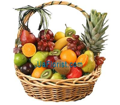 """A large basket of fruits"" in the online flower shop uaflorist.com"