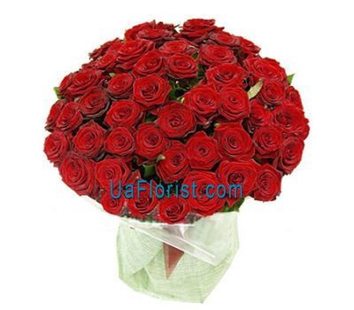 """A large bouquet of flowers of 51 roses"" in the online flower shop uaflorist.com"