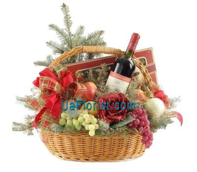 """Gift Basket for New Year"" in the online flower shop uaflorist.com"