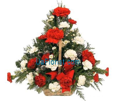 """Composition for the New Year - Happy New Year"" in the online flower shop uaflorist.com"