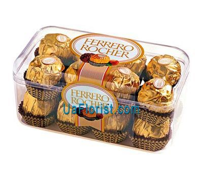 """Ferrero in a plastic box"" in the online flower shop uaflorist.com"