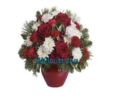 """Flower basket - New Year"" in the online flower shop uaflorist.com"