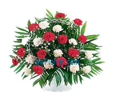 """""""Корзина цветов из 29 гвоздик"""" в интернет-магазине цветов uaflorist.com"""