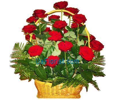 """Basket of 21 roses flowers"" in the online flower shop uaflorist.com"