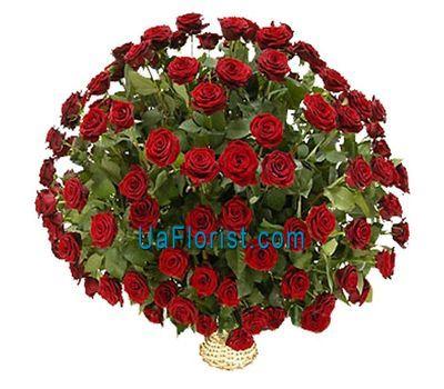 """""""Корзина цветов из 101 красной розы"""" в интернет-магазине цветов uaflorist.com"""