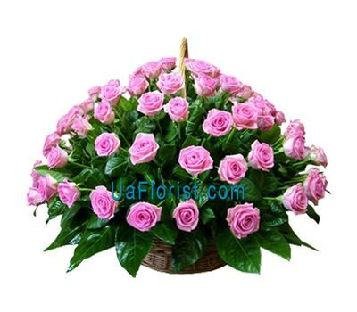 """Basket of flowers from 75 roses"" in the online flower shop uaflorist.com"