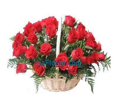 """""""Кошик квітів з 35 червоних троянд"""" в интернет-магазине цветов uaflorist.com"""