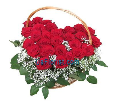 """A composition of 27 red roses"" in the online flower shop uaflorist.com"