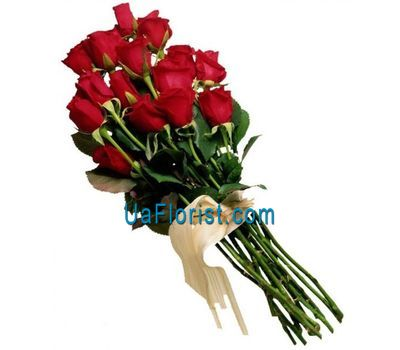 """Bouquet of 15 red roses"" in the online flower shop uaflorist.com"