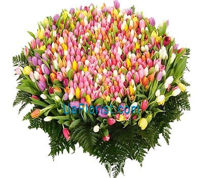 """A huge bouquet of 1001 tulips"" in the online flower shop uaflorist.com"