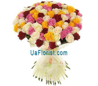 """""""Букет із 101 троянди"""" в интернет-магазине цветов uaflorist.com"""