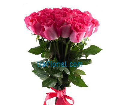 """Bouquet of 23 pink import roses"" in the online flower shop uaflorist.com"