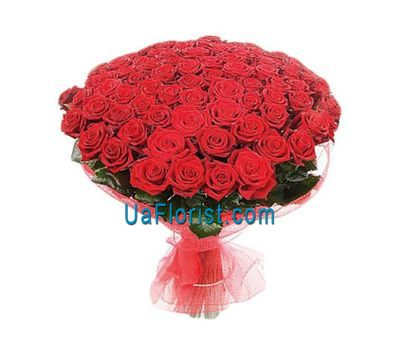 """A huge bouquet of 115 red roses"" in the online flower shop uaflorist.com"