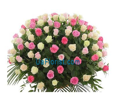 """Bouquet of 101 roses with herbs"" in the online flower shop uaflorist.com"