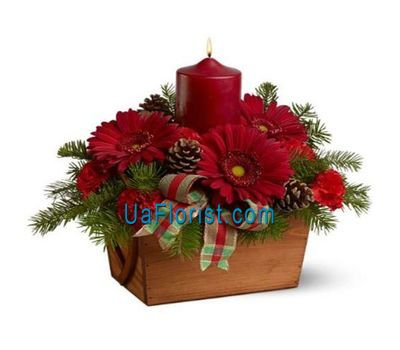 """New Year composition - Metel"" in the online flower shop uaflorist.com"