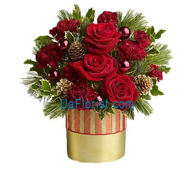 """""""New Year composition - Christmas Tale"""" in the online flower shop uaflorist.com"""