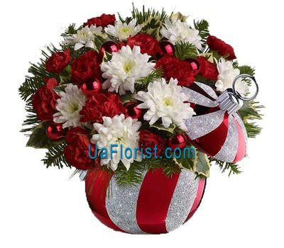 """Christmas composition is Christmas"" in the online flower shop uaflorist.com"