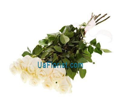 """""""Bouquet of 9 white imported roses"""" in the online flower shop uaflorist.com"""
