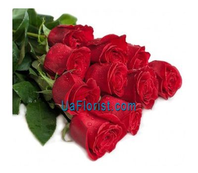 """""""A bouquet of 11 red roses"""" in the online flower shop uaflorist.com"""