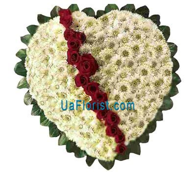 """Their heart is 21 chrysanthemums and 15 roses"" in the online flower shop uaflorist.com"