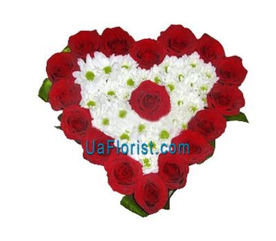 """""""Композиция из 17 роз и 4 хризантем"""" в интернет-магазине цветов uaflorist.com"""