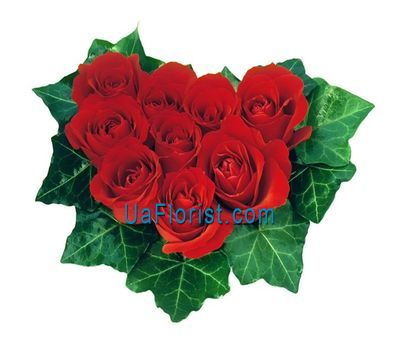 """Heart of 7 red roses"" in the online flower shop uaflorist.com"