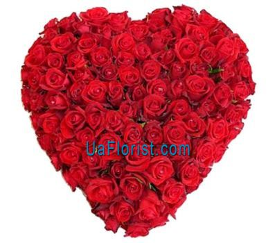 """Heart of 101 roses"" in the online flower shop uaflorist.com"