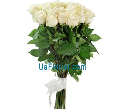 """25 white import roses"" in the online flower shop uaflorist.com"