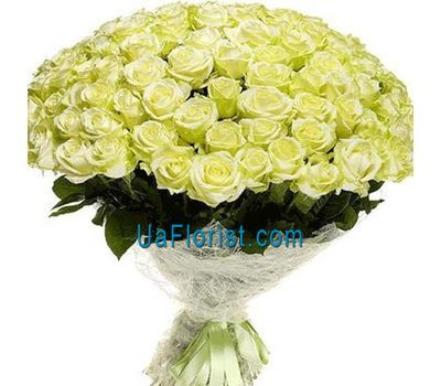 """Bouquet of 121 green roses"" in the online flower shop uaflorist.com"