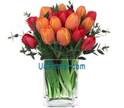 """Composition in a vase:19 tulips"" in the online flower shop uaflorist.com"
