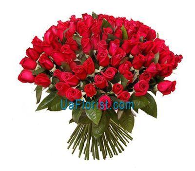 """""""Букет из 101 красной импортной розы"""" в интернет-магазине цветов uaflorist.com"""