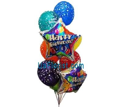 """9 balloons with patterns"" in the online flower shop uaflorist.com"