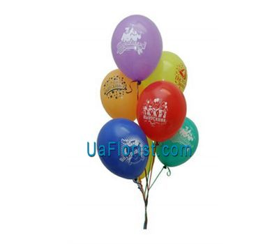 """7 colored balloons with drawings"" in the online flower shop uaflorist.com"