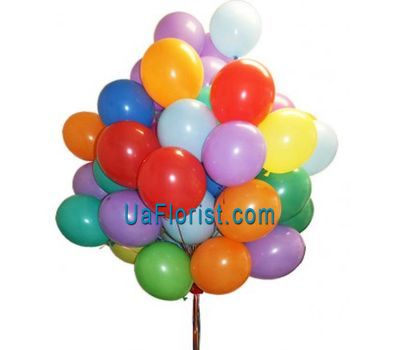 """50 colored air balloons"" in the online flower shop uaflorist.com"